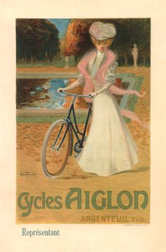 Six sizes from $29 TITLE: Cycles Aiglon ARTIST: Abel Truchet CIRCA: 1898 ORIGIN: France  Fine art giclee print on heavy acid free archival paper using 100+ year fade resistant inks.