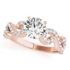 NATALIE ENGAGEMENT RING in 14K Rose Gold - Price: ₹37,190.00. Buy now at http://www.solitairehouse.com/natalie-engagement-ring-in-14k-rose-gold.html