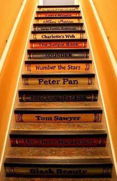 Children's books staircase