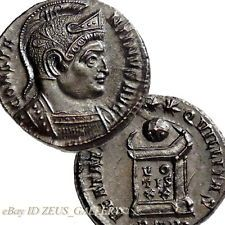 Constantine The Great HELMET XF+ AU BEATA TRANQVILLITAS Altar Roman Follis Coin