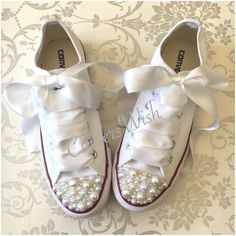 Pearl Converse / bridal converse / wedding converse/ bride converse / customised converse  / unique sneakers