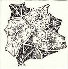 Ein Zentangle aus den Mustern Tripoli gezeichnet von Ela Rieger, CZT, für die Diva Challenge Nr. 244.