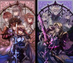Fire Emblem Fates. Kamui and Camilla