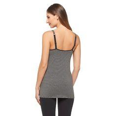 Women's Nursing Cotton Cami Dark Gray Stripe Xxl
