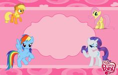 My Little Pony Party: Free Printable Invitations.   Oh My Fiesta ...