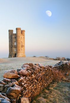 "Broadway Tower is a folly located on Broadway Hill, near the village of Broadway, in the English county of Worcestershire. The ""Saxon"" tower was designed by James Wyatt in 1794 to resemble a mock castle. It was built for Lady Coventry in 1799 on a ""beacon"" hill, where beacons were lit on special occasions.   by rob mccoll on Flickr."