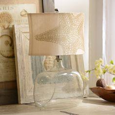 Seeded Glass Starfish Table Lamp | Kirkland's