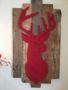 Red deer string art by Camille