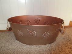 Distressed Copper Leaf Bucket Fall Decor by JensHandMadeDecor, $10.00