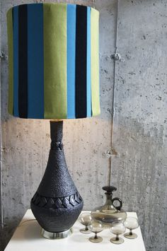 Mid Century Table Lamp w/Shade by stukinmidcentury on Etsy, $250.00