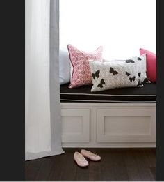 Make built-in bench with re-purposed cabinets