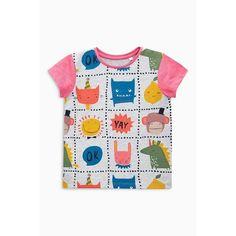 T-shirt manches courtes à motifs personnages (3mois à 6ans) fille Next - Rose- Vue 1