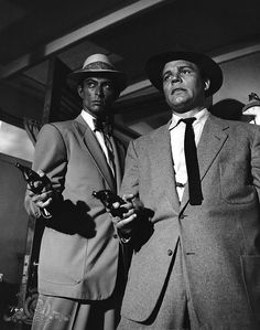 Lee Van Cleef and Neville Brand in Kansas City Confidential (1952)