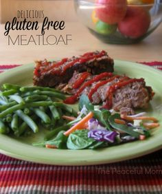 #glutenfreerecipe Delicious Gluten Free Meatloaf Recipe from The Peaceful Mom - not your mama's meatloaf (but just as good!)