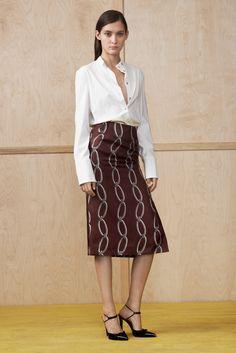 White shirt and long skirt