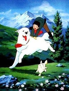 Belle et Sebastien - LOVED this cartoon and it always made me want to get a great pyrenees one day...