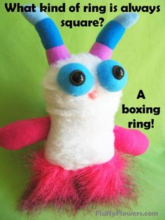 cute & clean boxing kids joke for children featuring an adorable monster :)
