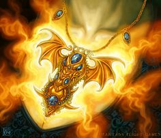 Dragon Amulet for Talisman by *feliciacano on deviantART