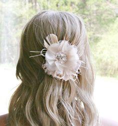 Bridal Fascinator Wedding Headpiece Bridal Hair by FancieStrands