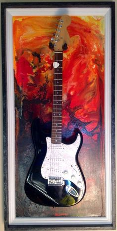 Guitar Display Case Shadow Box /Wall Hanger/Holder/Stand/Hook / Mount