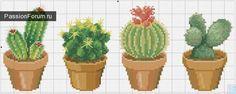 Cactus cross stitch pattern Ca