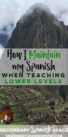 Tips on maintaining language skills when you teach lower levels Spanish Songs, Spanish 1, Spanish Lessons, How To Speak Spanish, Learn Spanish, Spanish Alphabet, Spanish Grammar, Spanish Teaching Resources, Spanish Activities