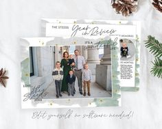 Spread some holiday cheer this season with this Year In Review Christmas Card Template. Your beautiful family photos will look perfect in this 5x7 Christmas card. You can quickly and easily edit your card online in your web browser, then download and print right away! No software needed View MORE Christmas Card Template, Christmas Photo Cards, Printable Christmas Cards, Merry Christmas Card, Holiday Cards, Christmas Photos, Holiday Birth Announcement, Birth Announcement Template, Costco Home