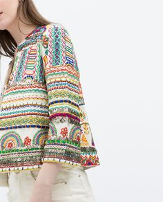 ZARA - TRF - EMBROIDERED JACKET