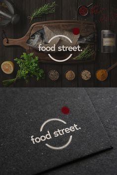 Design: Varga Balázs Project: Food Street Logo design Logo Design, Street, Projects, Food, Log Projects, Blue Prints, Essen, Meals, Walkway