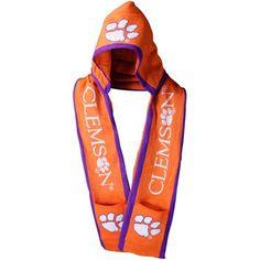 HA!  Love it.  Clemson Tigers Orange Hooded Knit Scarf