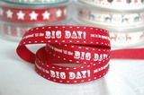 """www.elephantinmyhandbag.com """"Not to be Opened Cream on Red 15 mm"""" 3 Metres #Christmas #Ribbon by Berisfords"""