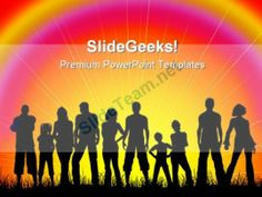Crowd Of People PowerPoint Backgrounds And Templates 0111 #PowerPoint #Templates #Themes #Background