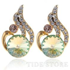 US$15.99 Amazing Waterdrop Rhinestne Lady's Stud . #Earrings #Waterdrop #Amazing #Rhinestne