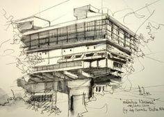 Bosquejos urbanos: Urban Sketchers Argentina