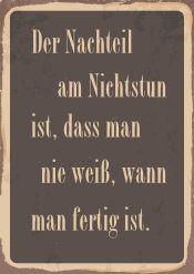 Nachteil am Nichstun | Texte / Grafisch