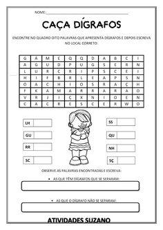 Ditongo/dígrafo - Atividades Adriana