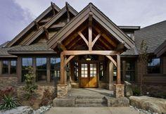 love the timber framed entry
