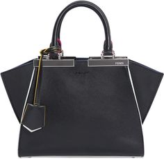 Fendi Mini 3jours Contrasting Edge Leather Bag
