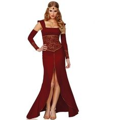 Adult Medieval Princess Sexy Costume (195 BRL) ❤ liked on Polyvore featuring costumes, dresses, halloween costumes, multicolor, adult princess costume, princess halloween costumes, princess costume, sexy costumes and party costumes