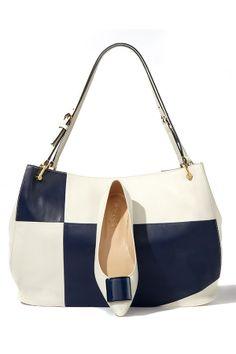 0c6f32e60c Tod s Horse Grand Colorblock shopper  amp  Leather Square Detail Ballerina  Flats Cute Handbags