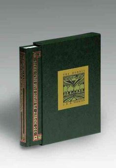 This deluxe collector's edition of Tolkien's modern classic is boxed and bound in green leatherette with gold and red foil rune stamping on the spine and cover. The text pages are printed in black wit