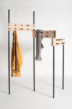 portable rack with hooks, nice for drying damp scarves and coats