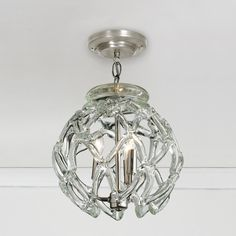 Crystal Web Globe Pendant Light