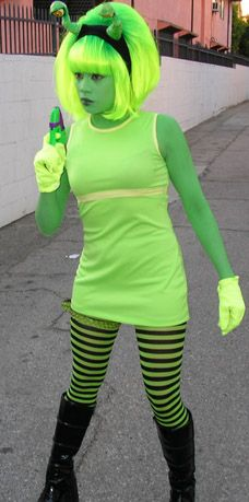 Ave Rose as a green Martian! #ave #rose #martian