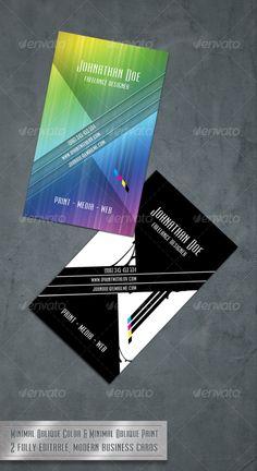 Minimal Oblique - Modern Business Card