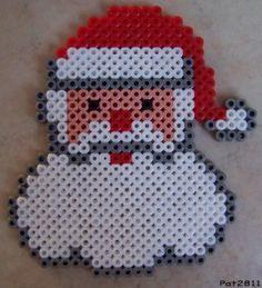 Christmas Santa hama perler beads by Les loisirs de Pat