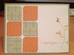 Thank You Handmade Card Clean and Simple | cardsbylibe - Cards on ArtFire