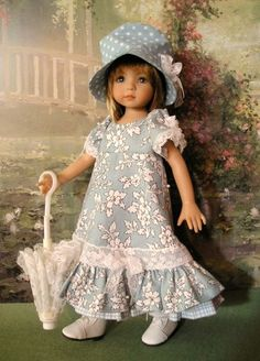"""Stroll in The Park"" Outfit Only for 13"" Effner Studio Doll 