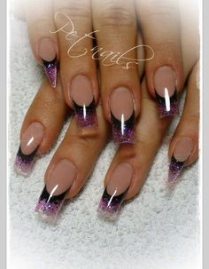 Purple and black tips