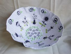 Retro Floral Large Papier Mache Bowl by ContainedHappiness on Etsy, $24.00